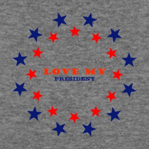 love my president message - Women's Wideneck Sweatshirt