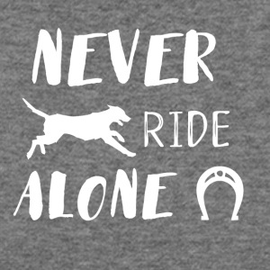 Never Ride alone - Women's Wideneck Sweatshirt