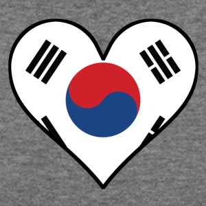 Korean Flag Heart - Women's Wideneck Sweatshirt