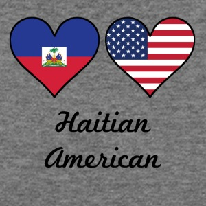 Haitian American Flag Hearts - Women's Wideneck Sweatshirt