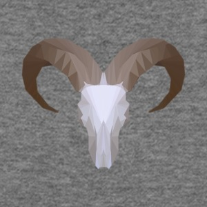 Low Poly Aoudad Skull - Women's Wideneck Sweatshirt
