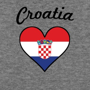Croatia Flag Heart - Women's Wideneck Sweatshirt