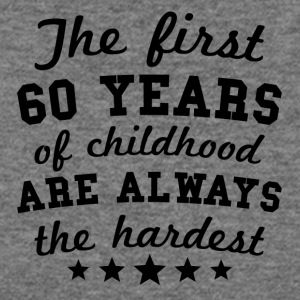 60 Years Of Childhood 60th Birthday - Women's Wideneck Sweatshirt