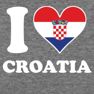 I Love Croatia Croatian Flag Heart - Women's Wideneck Sweatshirt