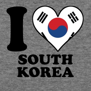 I Love South Korea Korean Flag Heart - Women's Wideneck Sweatshirt