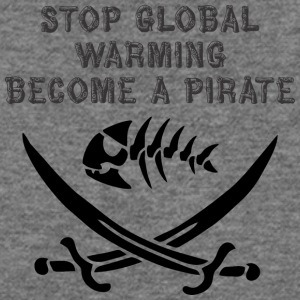 stop global warming and become a pirate - Women's Wideneck Sweatshirt