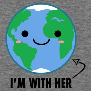 I'm with her Mother Earth Day - Women's Wideneck Sweatshirt