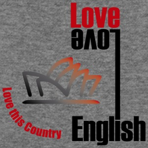 Love English, love Australia - Women's Wideneck Sweatshirt