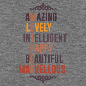 Mother is Amazing Lovely Intelligent Happy Beautif - Women's Wideneck Sweatshirt