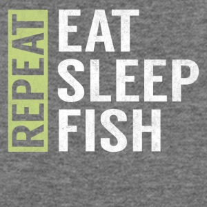 Eat Sleep Fish Repeat Funny Fisher Quote Fishing - Women's Wideneck Sweatshirt