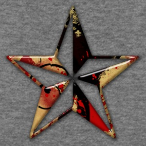 abstract red and gold paint splatter icon natural - Women's Wideneck Sweatshirt