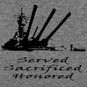 Navy Served Sacrificed Honored - Women's Wideneck Sweatshirt