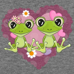 frog love heart romantic flowers - Women's Wideneck Sweatshirt