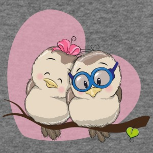 Birds couple in love heart romantic - Women's Wideneck Sweatshirt