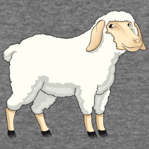 Sheep pet wildlife animal vector cartoon art goat - Women's Wideneck Sweatshirt