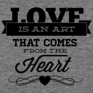 love_is_an_art_that_comes_from_the_heart - Women's Wideneck Sweatshirt