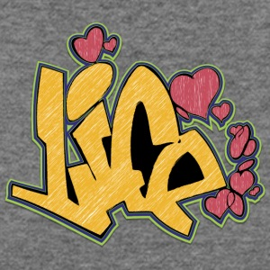 life_graffiti_yellow - Women's Wideneck Sweatshirt