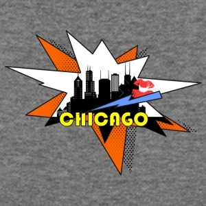 Chicago Pop Art Skyline - Women's Wideneck Sweatshirt
