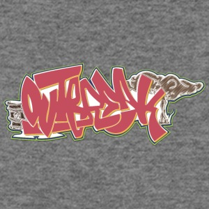 out_graffiti_red_with_green - Women's Wideneck Sweatshirt
