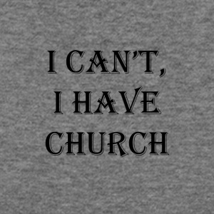 I Can't, I Have Church #Black Text - Women's Wideneck Sweatshirt