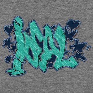 ideal_graffiti_blue - Women's Wideneck Sweatshirt