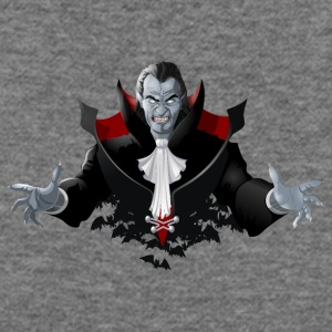 Count Dracula Vampire Monster Bat - Women's Wideneck Sweatshirt