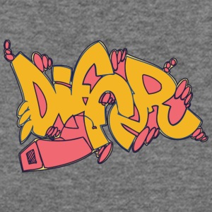 differ_graffitit_yellow - Women's Wideneck Sweatshirt