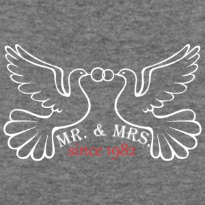 Mr And Mrs Since 1982 Married Marriage Engagement - Women's Wideneck Sweatshirt