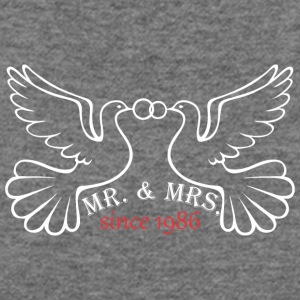 Mr And Mrs Since 1986 Married Marriage Engagement - Women's Wideneck Sweatshirt