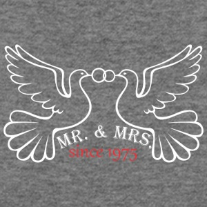 Mr And Mrs Since 1975 Married Marriage Engagement - Women's Wideneck Sweatshirt