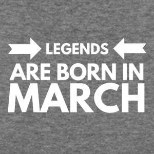 Legends Born March - Women's Wideneck Sweatshirt