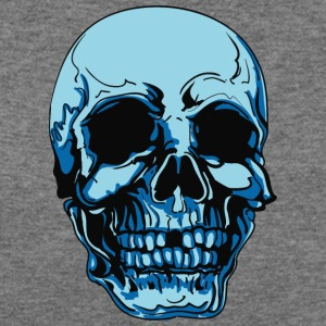 blue_skull_without_1_tooth - Women's Wideneck Sweatshirt