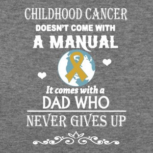 Childhood Cancer Dad Shirt - Women's Wideneck Sweatshirt