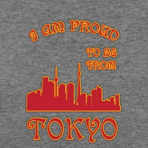 Tokyo I am proud to be from - Women's Wideneck Sweatshirt