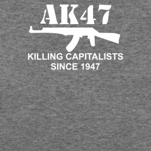 AK47 funny political weapons cool retro rude - Women's Wideneck Sweatshirt