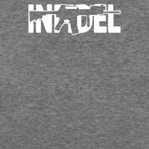 Infidel AR 15 Front US Army Rifle Gun Cost of Ammo - Women's Wideneck Sweatshirt