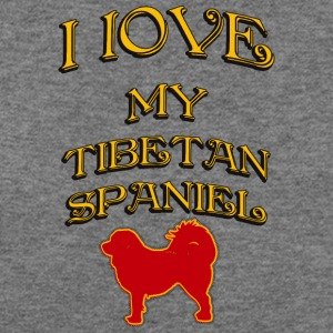 I LOVE MY DOG Tibetan Spaniel - Women's Wideneck Sweatshirt