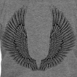 angelic-wings-vector - Women's Wideneck Sweatshirt