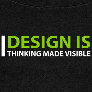 Design Is Thinking Made Visible - Women's Wideneck Sweatshirt
