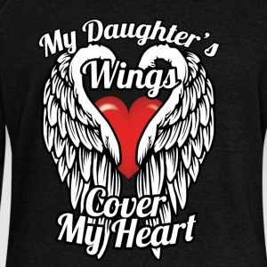 My daughter's wings cover my heart - Women's Wideneck Sweatshirt