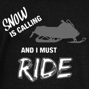 Snow Is Calling Snowmobile Shirts - Women's Wideneck Sweatshirt