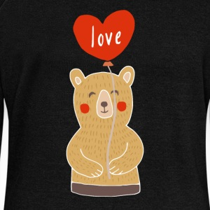 Cute Adorable Bear with Love Ballon - Women's Wideneck Sweatshirt