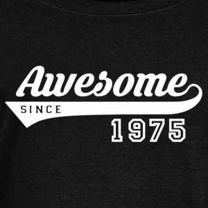 Awesome Since 1975 Shirt - Women's Wideneck Sweatshirt