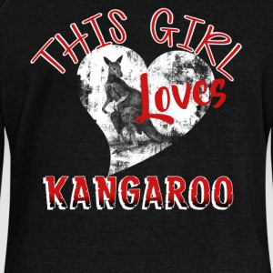 Girl Loves Her Kangaroo Shirt - Women's Wideneck Sweatshirt