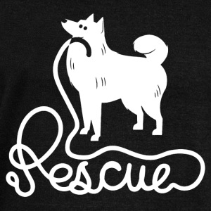 Rescue Dog T shirt - Women's Wideneck Sweatshirt