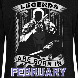 Legends Are Born In February. Perfect Gift For him - Women's Wideneck Sweatshirt