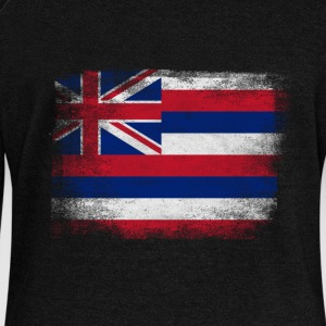 Hawaii American Flag Fusion - Women's Wideneck Sweatshirt