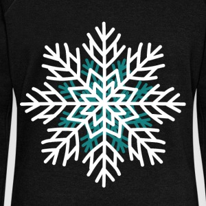 Snowflake t shirt men Christmas winter day - Women's Wideneck Sweatshirt