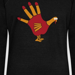 Turkey Hand - Women's Wideneck Sweatshirt