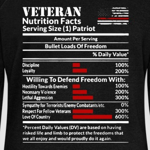 Veteran Nutrition Facts Shirt - Women's Wideneck Sweatshirt